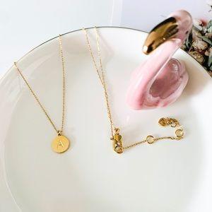 Kate Spade Mini Initial Pendant Necklace - A
